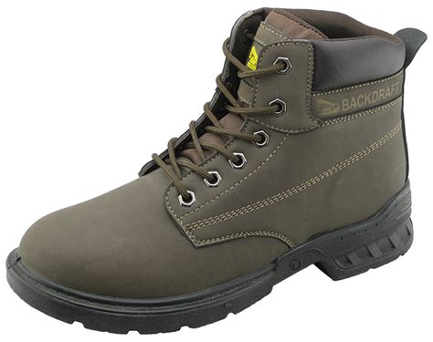 cheap pu nubuck leather safety boots