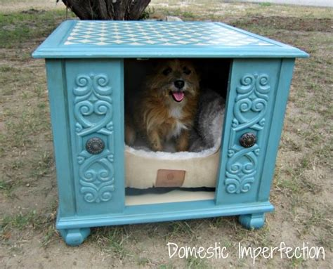 end table dog house winnerdogfinds upcycled ugly end table transformed into cute dog house