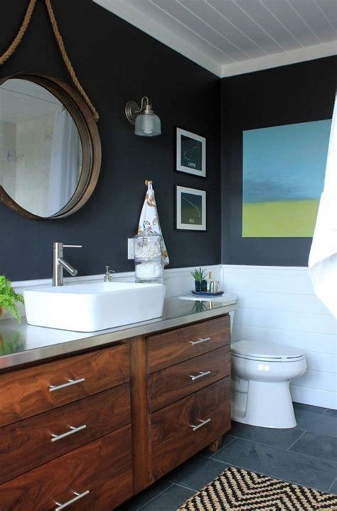 Navy And White Bathroom by The World S Catalog Of Ideas