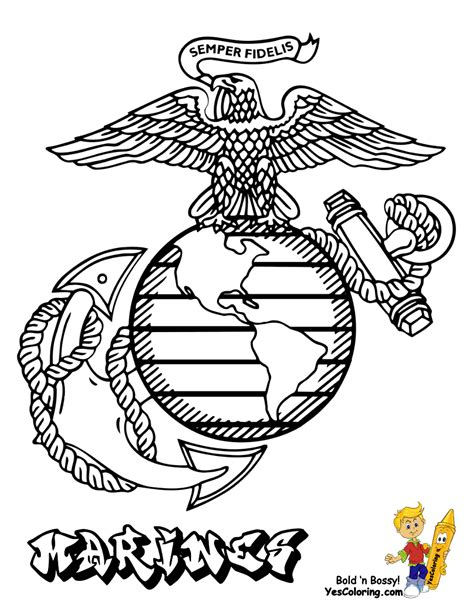 Noble Army Coloring Picture Uniform Coloring Female Marine Coloring Pages