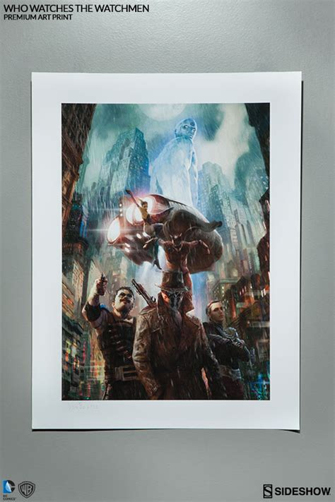 watchmen art of the warner bros who watches the watchmen premium art print by s sideshow collectibles