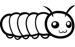 really big caterpillar coloring pages to print out