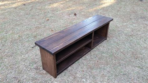 Floating Bookcases Rustic Mudroom Storage Bench