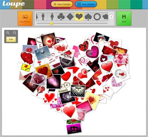 top 20 best free online photo collage maker no download heart shaped collage online