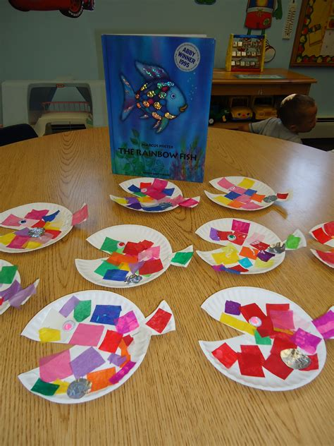 Different Paper Crafts - squarehead teachers rainbow fish activities 2 free