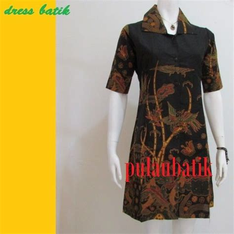 Baju Pesta Wanita Fashion 16371 Dress Katun Sabrina Batik Combi fashion jual top tips