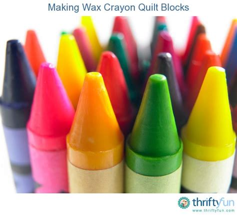 chagne and wax crayons making wax crayon quilt blocks thriftyfun