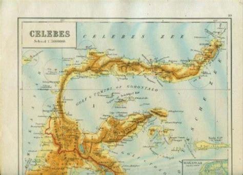 Peta Antik Batavia Jadoel koleksi tempo doeloe peta kuno celebes sulawesi dan