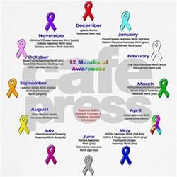 awareness month colors 12 months of awareness wall clock by disabilitystore
