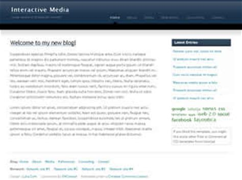 Interactive Media Free Website Template Free Css Templates Free Css Free Interactive Website Templates