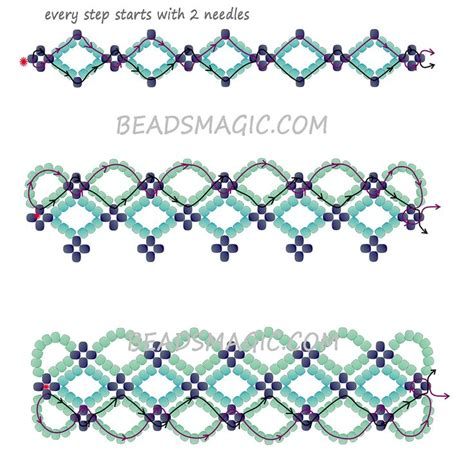 beaded bracelet patterns free pattern for bracelet santorini magic