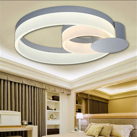 Creative Ceiling Lights Led Celling Light Contemporary Simple Acrylic Circular Creative Mirror L Flush Mount Ceiling