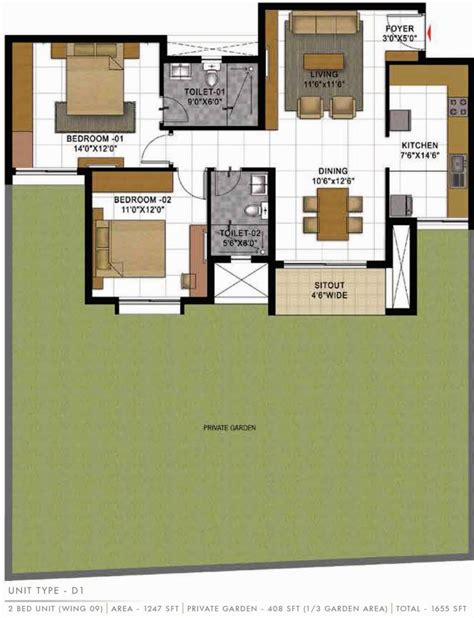 casa bella floor plan 1655 sq ft 3 bhk 3t apartment for sale in prestige group