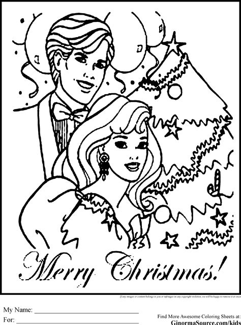 coloring pages barbie christmas coloring pages of christmas barbie ken barbie coloring