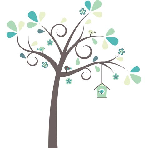 Birdcage Wall Stickers pretty tree wall sticker littleprints