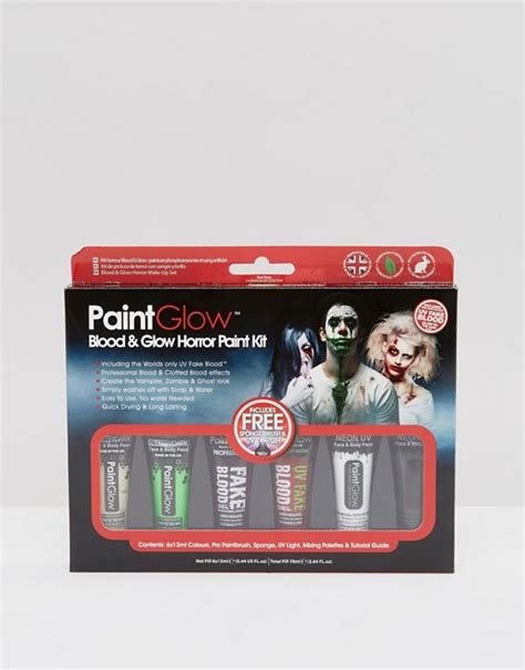 Kit Shoo Mobil Wash And Glow 800ml extras paintglow blood glow horror paint kit