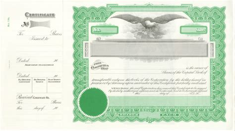 stock certificate template common and preferred stock goes 196