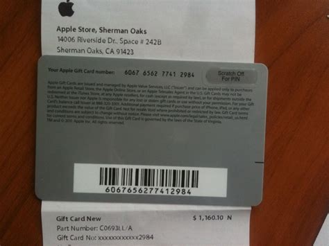 Apple Gift Cards - 1160 apple gift card