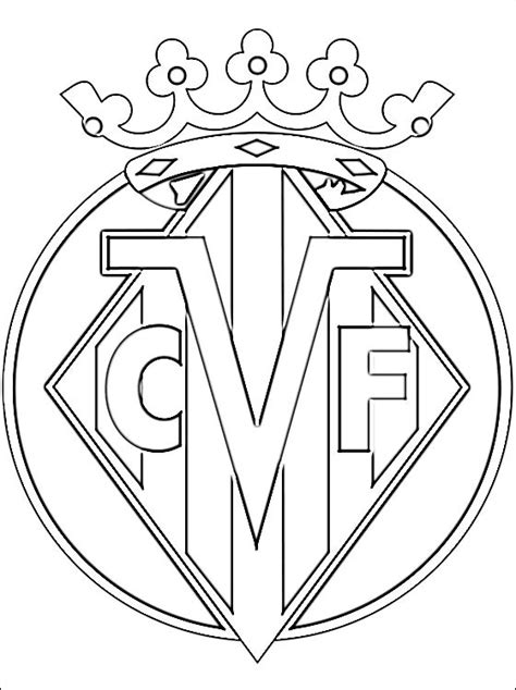 coloring pages football clubs villarreal cf football club coloring page coloring pages