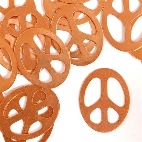 metal discs for jewelry peace sign 1 1 4 quot copper metal sting blanks 24 pc