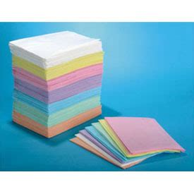 """horizon patient bibs pink 13"""" x 18"""" 3 ply paper/1 ply poly"""