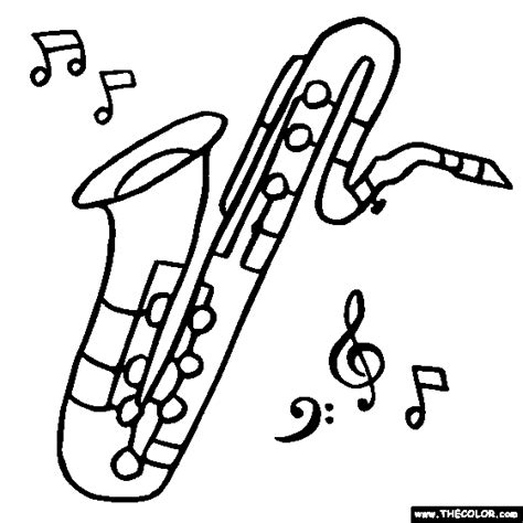 coloring sheets jazz instruments free online coloring pages thecolor