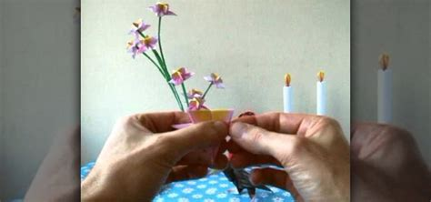 How To Make Small Origami Flowers - how to fold a mini origami flower for beginners
