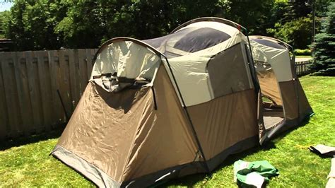 Cabin Tents by Coleman Weathermaster 10 Setting Up Youtube