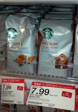 Target Gift Card At Starbucks - target starbucks coffee gift card deal just 3 99 each