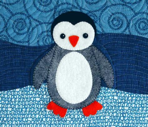 Patchwork Penguin - baby penquin applique patchwork