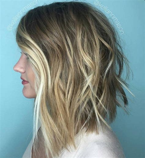 shooing after balayage how to blunt lob blonde balayage behindthechair com