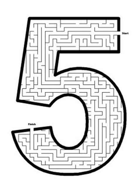 printable number maze number mazes number 5 maze james mazes