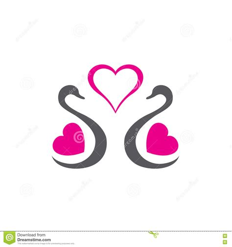 logo design love a 0321985206 swan wedding logo cartoon vector cartoondealer com 74944697