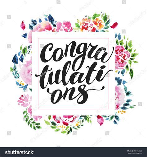 Congratulation Card Design Template by Watercolor Floral Card Design Stock