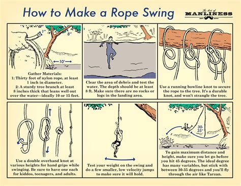 how to make swing how to of the day how to make a rope swing common sense