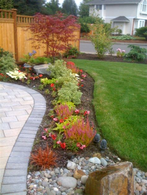 Corner House Backyard Ideas Designs Rock Garden Front Yard House Garden Design Ideas