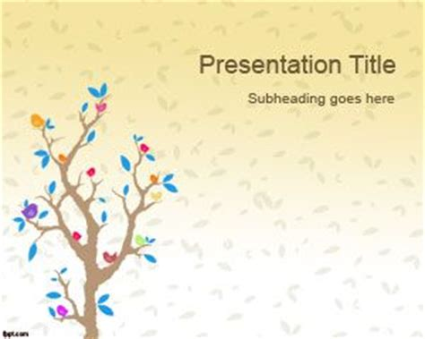 theme powerpoint free download cartoon cartoon tree powerpoint template
