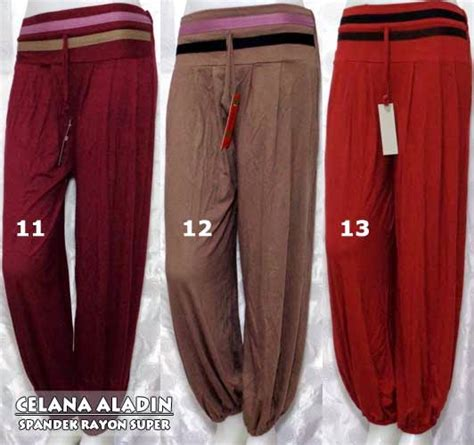 Celana Fatin Muslim Batik Simple jual celana aladin motif batik terbaru via grosir jilbab syar i gamis terbaru