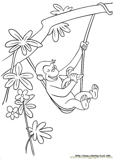 curious george coloring page pdf curious george 08
