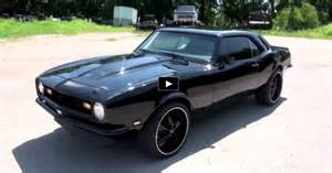 blacked out 1968 chevy camaro 350 car cars