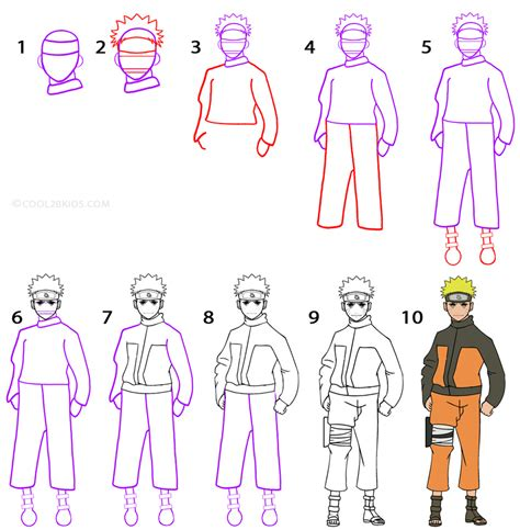 tutorial naruto drawing how to draw naruto step by step drawing tutorial with