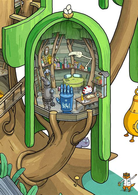 adventure time fan art recreates finn and jake s tree fort