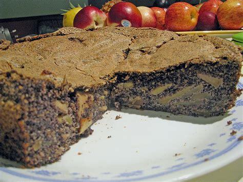 kuchen mit zitronenglasur apfel mohn torte rezept mit bild senzanome