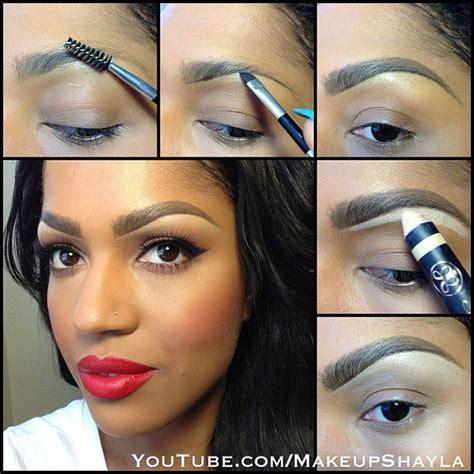 eyebrow shaping on african americans instagram post by shayla makeupshayla african