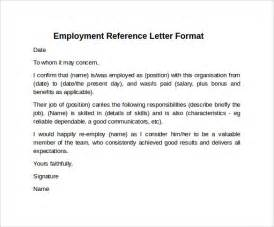 reference letter format 7 free documents in