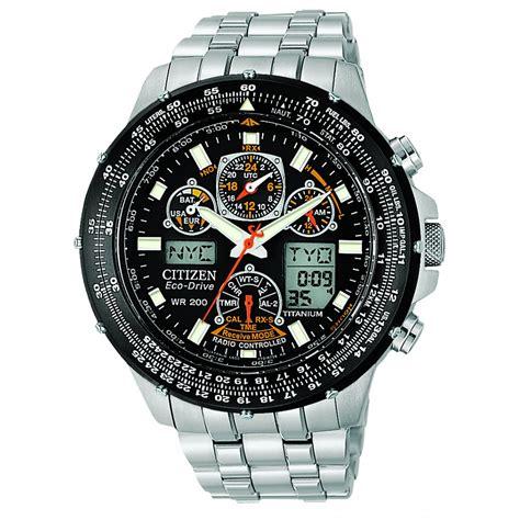 Mens Citizen Titanium Skyhawk A.T Chronograph Watch   JY0010 50E   Market Cross Jewellers