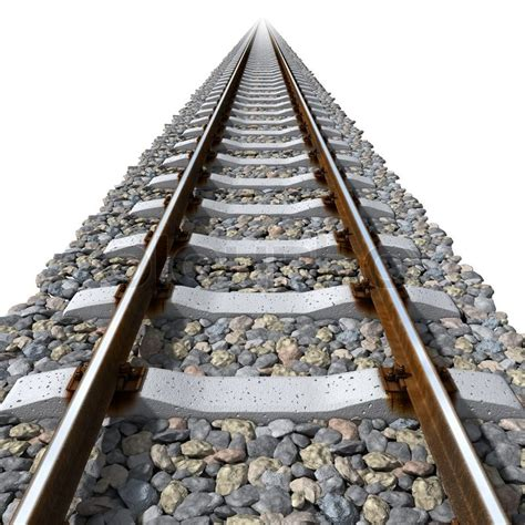 Track Sleepers by Rails Lines On Concrete Sleepers Stock Photo Colourbox