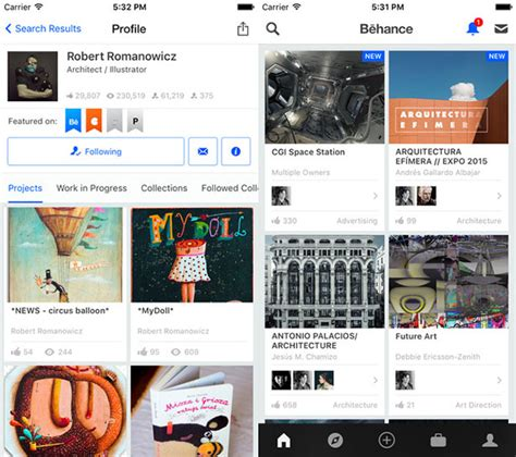 app design on behance 25 great iphone apps that graphic designers should have in