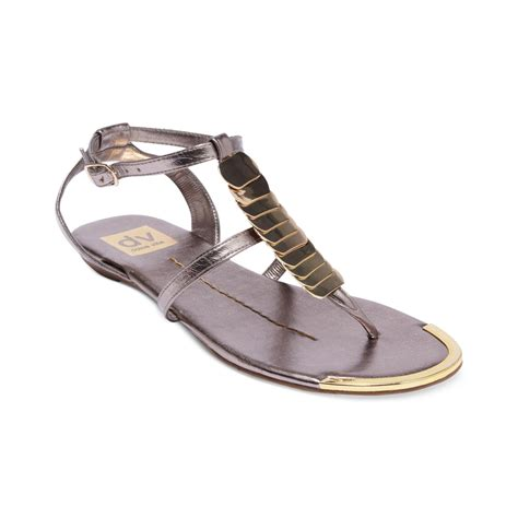 sandals dolce vita dolce vita apex flat sandals in silver pewter gold
