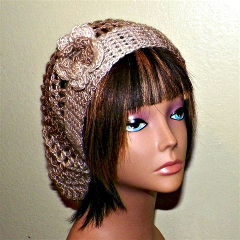items similar to slouchy womens brown slouchy hat womens crochet summer hippie earth tones